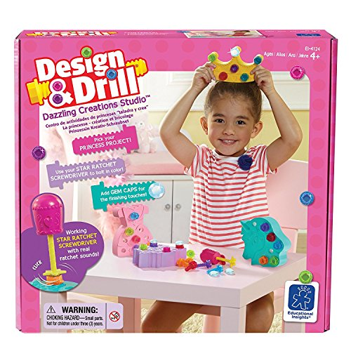 Learning Resources Design & Drill - Dazzling Creations Studio - Kit d'Activités Princesse