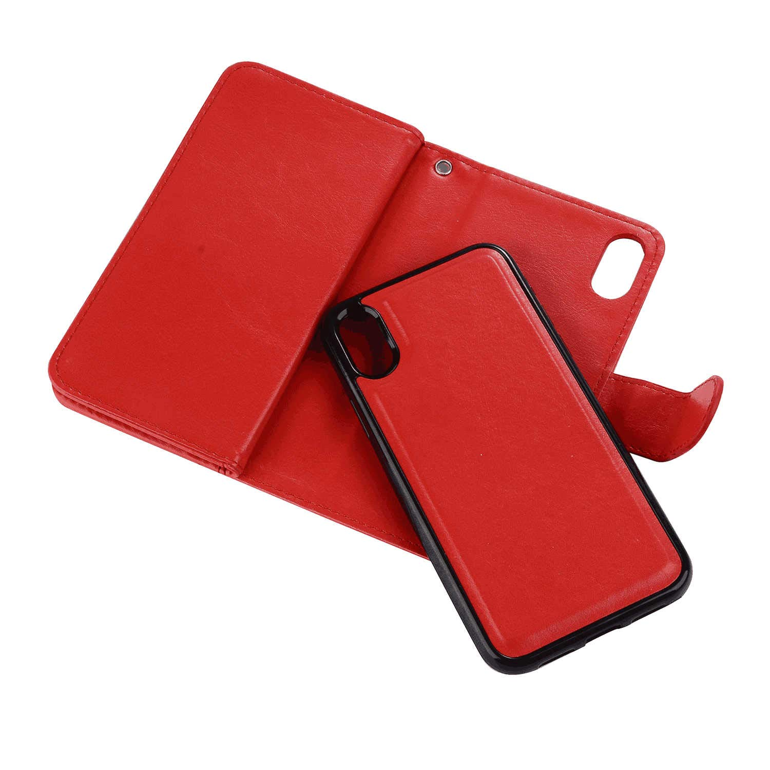 Rose red PU Leather Wallet Cover Compatible with Samsung Galaxy S10e Flip Case for Samsung Galaxy S10e