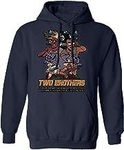 RIVEBELLA New Graphic Tee Rick Morty Shirt Two Brothers Graphic Men's Hoodie Hooded Sweatshirt