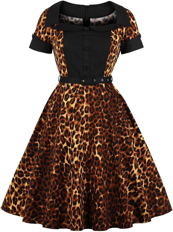 FUZHUANGHM Print Club Party Corset Belts Retro Dress Plus Size Women Vintage Dress Rockabilly Dresses