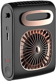 【2021進化版】腰ベルト扇風機 ベルトファン 腰掛け扇風機 風向きの調整可能 10000mAh大容量バッテリー 熱中症 携帯扇風機 暑さ対策 汗染み対策 USB充電式 (6000mAh Black)