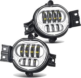 LED Fog Light Clear Lens Silver Driving Fog Lamp For Dodge Ram 1500 2500 3500 (2pcs)