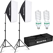 "MOUNTDOG Softbox Lighting Kit Photography Studio Light 20""X28"" Professional Continuous Light System with E27 95W Bulbs 550..."