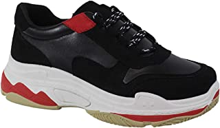 Yoki Womens Fashion Chunky Heavy Triple Sole Tubuler Trendy Dad Sneaker Trainers