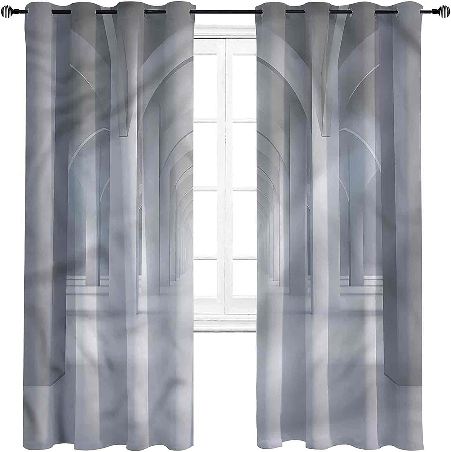 Antique Bedroom Blackout Minneapolis Mall Curtains Illustration Hallway New item fo Long