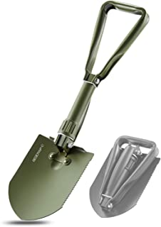 REDCAMP Military Folding Camping Shovel,High Carbon Steel Entrenching Tool Tri-fold..