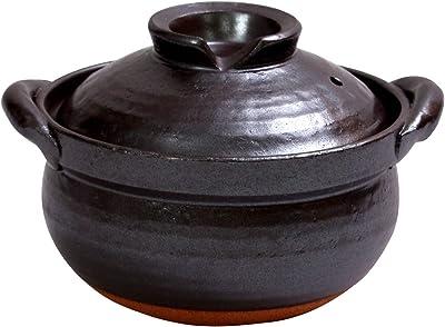 マルヨシ陶器(Maruyoshitouki) 土鍋 南蛮黒釉 5号 M7307