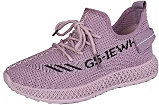 OUYAWEI Woman Sport Shoes Sneakers Running Shoes Lace-up Breathable Anti-Slip Light Flats Outdoors Sports