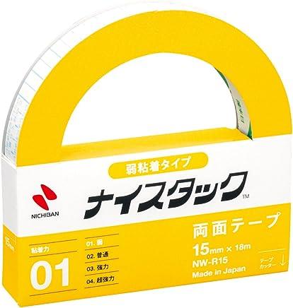 ニチバン 両面テープ ナイスタック 弱粘着タイプ 15mm×18m NW-R15