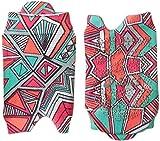 ASICS Studio calcetines sin dedos para mujer con pestaña única Geo Tribal Estampado S