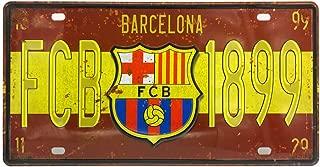 Ayiguri Football Club Famoso Club De Futbol Tin Signs Wall Decor Football Team Car Vehicle License Plate Souvenir Tinplate Metal Sign Poster Plaque 12 x 6 Inches (Barcelona)