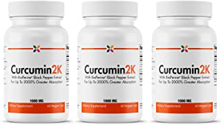 Sponsored Ad - Stop Aging Now - Curcumin2K Formula with BioPerine Black Pepper Extract for Up to 2000% Greater Absorption ...