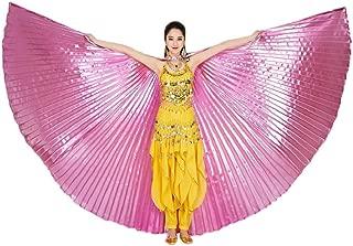 Disfraz egipcia, Dragon868 Disfraz Danza del Vientre para Mujer NiñA ISIS Alas Disfraz para Gran Fiesta De Regalo Egipto Alas del Vientre Traje De Baile Accesorios Sin Palos
