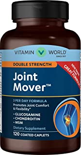 Vitamin World Double Strength Joint Mover | Joint Support Nutritional Supplement feat. Glucosamine, MSM, Chondroitin to Support Joint Comfort and Flexibility, 120 Caplets