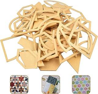 ZILONG アクリル DIY キルトテンプレート パッチワーク 27種 54枚セット キルティングテンプレート パッチワークテンプレート パッチワーク型紙 裁縫用具 手芸飾り