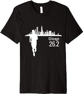 Chicago Skyline Marathon Running Premium T-Shirt