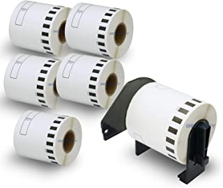 """BETCKEY - Compatible DK-2212 Continuous Matte Film 2-3/7"""" x 50'(62mm x 15.2m) Replacement Labels,Compatible with Brother Q..."""