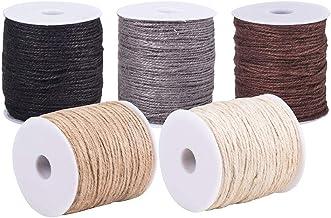 PH PandaHall 545 werven 5 kleuren natuurlijke jute touw 3-laags Jute String touw 2mm hennep touw Jute koord voor DIY ambac...