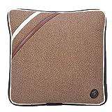 Cuscino da Massaggio Elettrico, Cuscino Vibrante per il Collo in Cotone Morbido e Silenzioso Massaggiatore Impastante per Safe Home Office Car Viaggiare, Approvazione CE/FDA/RoHS(Linen Brown)