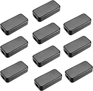 "Awclub 10Pcs ABS Plastic Electrical Project Case Power Junction Box, Project Box Black 1.6"" x 0.78"" x 0.43""(40 x 20 x 11mm)"