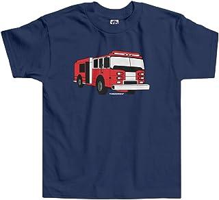 تي شيرت Threadrock للأولاد الصغار Fire Truck