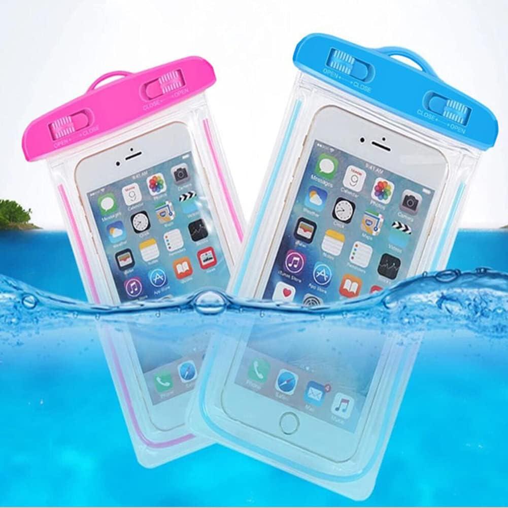Glow in Dark. Waterproof Case Set of 6pc, Cellphone Dry Bag Waterproof Bag Pouch, (D)