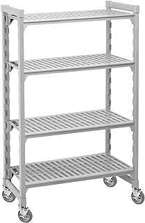 Cambro Mobile Shelving, 4 Solid Shelves, 24