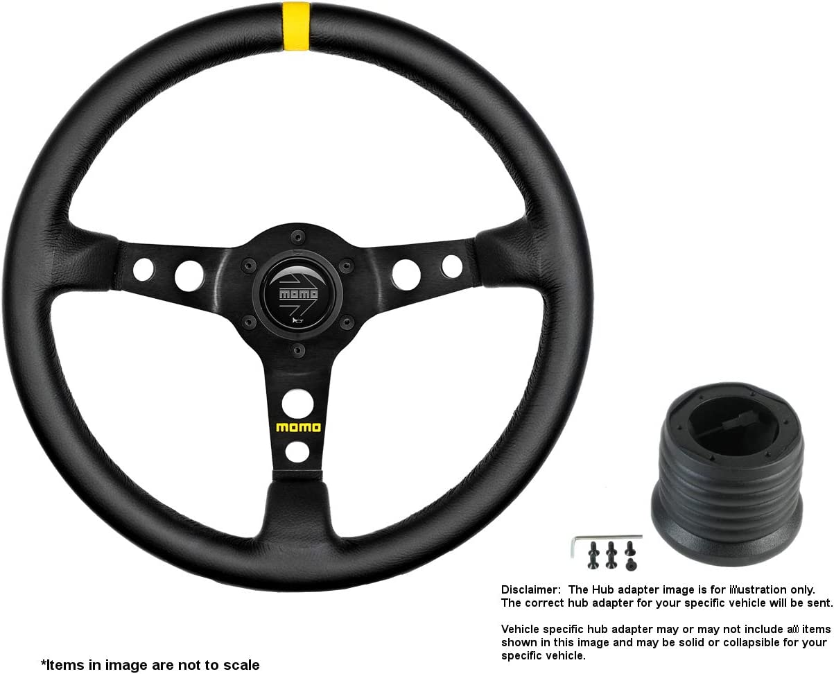MOMO MOD.07 free 350mm 13.78 Inches Sale SALE% OFF Steering Brushe Wheel w Leather