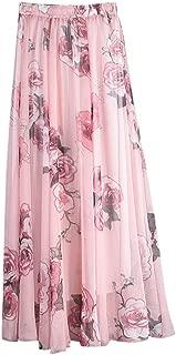 Women's Floral Chiffon Skirts African Maxi Long Skirt