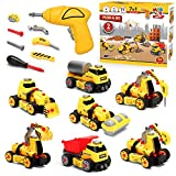 7 in 1 Take Apart Truck Construction Set - STEM Learning Toy w/ Electric Drill, DIY Engineering Building...