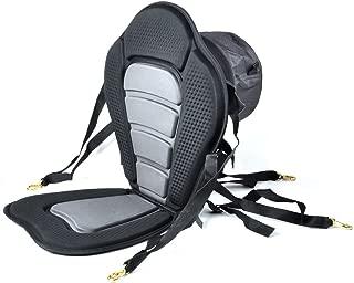 iGuerburn Adjustable Padded Kayak Boat Seat with Detachable Canoe Backrest Seat Bag