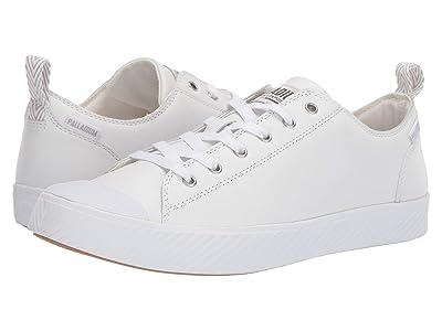 Palladium Pallaphoenix Low Leather (White/Ash) Lace up casual Shoes