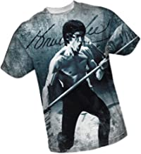 Bruce Lee Signature All-Over Front Print Sports Fabric T-Shirt