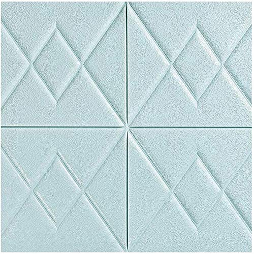 JYV 3D Pegatinas de Pared Pantalla, los Paneles de Pared de ladrillo 3D Peel y imágenes Vara for la Sala de Estar Dormitorio decoración de la Pared de Fondo (Color : Blue, Size : 20 Piece)