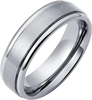 Titanium Men's Ring with Channel Accent