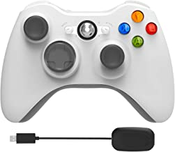 YCCSKY Xbox 360 Wireless Controller,2.4GHz Game Controller with Receiver Remote Gamepad Joystick for Xbox 360 &Slim Most PC with Win 7/8/10 (White)