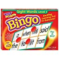 Sight Words Bingo - Language Building Skill Game for Home or Classroom (T6064), Build Vocabulary with 46 Most-Used Words, 3 - 36 players, Age 5 and up, Cover the Spaces Needed to Win & Call Bingo from Flat River Group