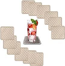 ELDETU Premium PVC 3D Ladder Print Champagne Pattern Drink Coasters Set of 12 waterproof Oil proof High temperature resistance,A2