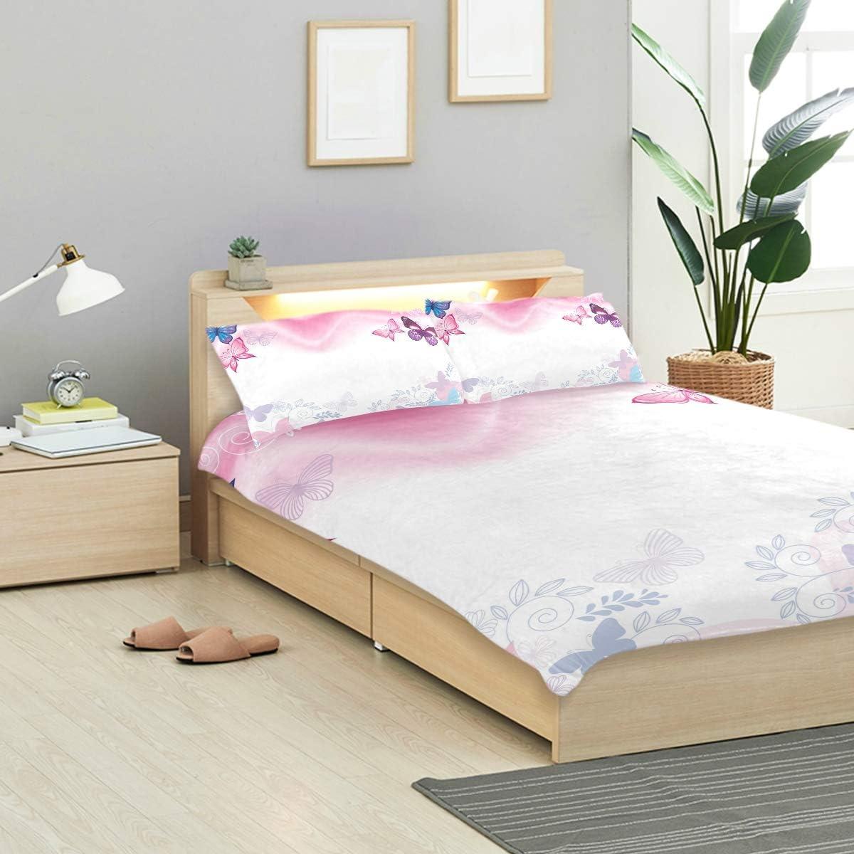 Bennifiry Parure de lit 3 pièces avec Housse de Couette et 2 taies d'oreiller en Coton lavé Gris, Multi#002, Taille Unique Multi#004