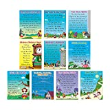 Fun Express Nursery Rhyme Posters - 10 Pieces - Educational and Learning Activities for Kids