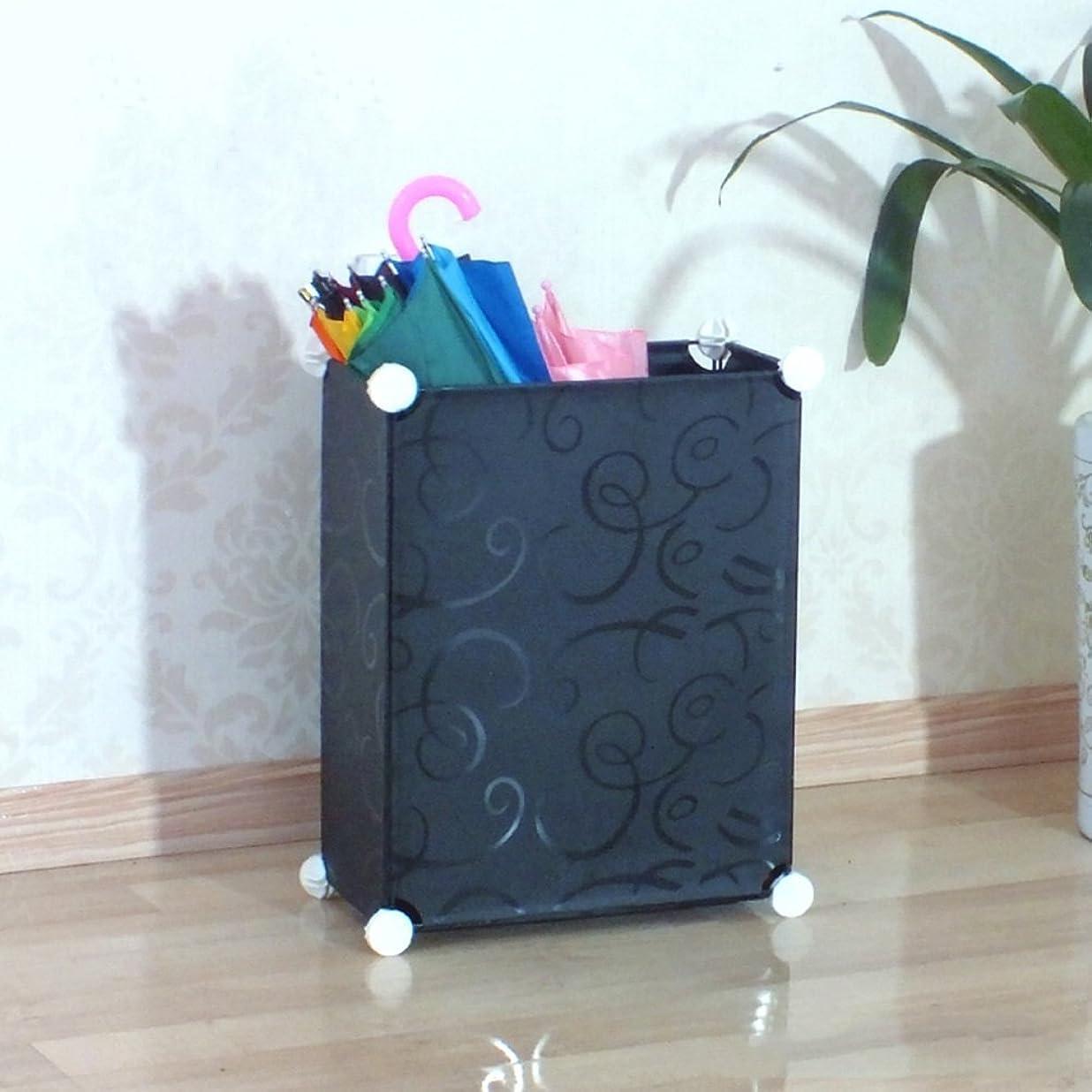 あいまい帳面宿るアンブレラスタンド/アンブレラストレージバケット/ポータブルアンブレラストレージラック(家庭用およびオフィス用)(色:黒、サイズ:50 * 50 * 19CM)