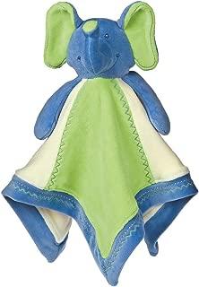 Mary Meyer Earthmates 100-Percent Organic, Elephant Baby Blanket, Blue, 16-Inches x 16-Inches