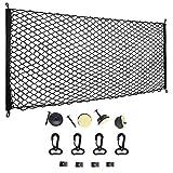 Doifck Auto Gepäcknetz Elastisch Nylon Kofferraum Netz Schutznetz Trennnetz 120x70cm Multifunktion für Kofferraum Aufwahrung