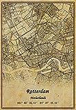 Niederlande Rotterdam Landkarte, Wandkunst, Poster,