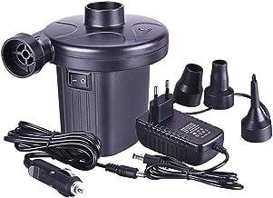 Dreameryoly Bomba de Aire eléctrica, Bomba eléctrica Inflable para automóvil y hogar, Camas de Aire, hinchables, neumáticos para automóviles, Tiendas de campaña, Piscina, 3 boquillas Incluidas