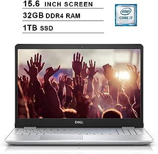 Dell Inspiron 15 5000 15.6 Inch FHD 1080P Laptop - Intel Quad Core i7-8565U up to 4.6 GHz, Intel UHD 620, 32GB DDR4 RAM, 1TB SSD, HDMI, Bluetooth, WiFi, Windows 10, Silver