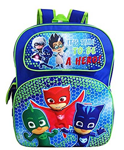PJ MASKS Kids Deluxe 3-D Pop Out 16' Backpack