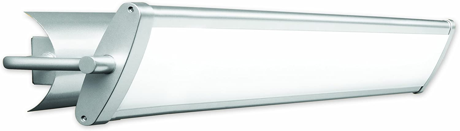 Good Earth Lighting 37.5-inch Seine Linear 2 Light Direct Wire Swivel Vanity Light - Steel Finish- 3500K Bright White - 3-Way Pull Chain - UL Listed