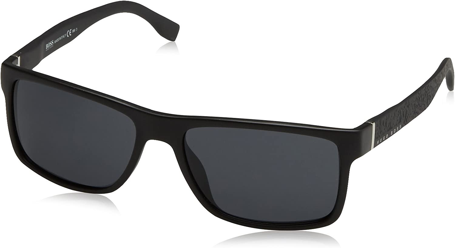 Amazon.com: BOSS by Hugo Boss Men's 0919/S Rectangular Sunglasses, Matte Black, 57 mm: Shoes