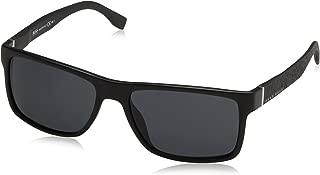 BOSS by Hugo Boss Men's B0919s B0919S Rectangular Sunglasses, MATTE BLACK, 57 mm